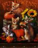 DMC Huge Halloween Cats Cross Stitch Embroidery Kit Pattern Chart PDF 14 Count