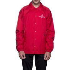 HUF mens Worldwide Coaches Jacket Red Medium New w/Tag Skateboard Snowboard Surf