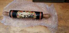 Rare Decorative Victorian wood  Rolling Pin