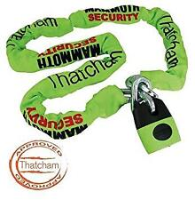 MAMMOTH 1.2M SQUARE CHAIN + LOCK THATCHAM APPROVED MOTORCYCLE CAT3 SECURITY