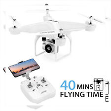 40Mins Flight Time Drone, Jjrc H68 Rc Drone with 720P Hd Camera Live White