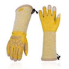 Vgo 1pair Extra Long Cuff Gardening Gloves Puncture Proof Work Glovesca9659