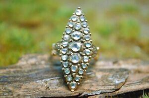 Antiker 1,00ct Diamanten Ring von ca. 1830, 14kt. Gold, RARITÄT !