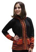 Superfine Handmade Alpaca & Merino Wool Hooded Jacket Hoodie Intarsia Sweater