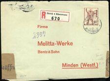 433946) Schweiz Nr. 378 als EF a. Einschreiben v. Zürich nach Deutschland 1941