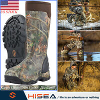HISEA Mens Hunting Boots Waterproof 400G Womens Rubber Boots Muck Outdoor Boots