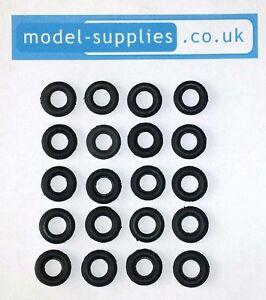 Corgi 15mm O/D Black Reproduction Rubber Tyres for Cars & Vans pre 1967