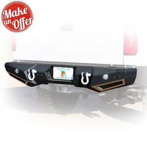 Smittybilt 614830 M1 Rear Bumper w/ Lights - 1999-2016 Ford F250/F350 Super Duty