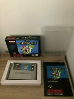 SUPER MARIO WORLD GIG ITA SUPER NINTENDO SNES + MANUALE ITA + CASE PROTETTIVO