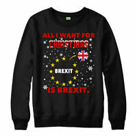 All I want for christmas is Brexit Jumper, UK election gift festive Xmas Top