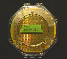 """6"""" Silicon wafer - Intel 88C196EC CPU wafer with clear clamshell shipper case."""