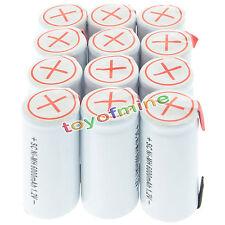 12x sub C subc Con Tab 6000mAh 1.2V Ni-MH ricaricabili bianca di alto potere