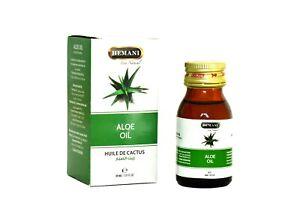 Hemani Aloe Vera Öl für Haut & Haare Körper Gesichtspflege Haarausfall Haarwuchs