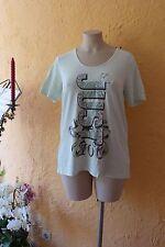 DODU Shirt Damen 42 44 NEU! lindgrün mit Motiv Stretch, weich LAGENLOOK