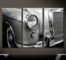 VINTAGE DETAILS MERCEDES BENZ 220 SE Leinwand Bild Ponton W128 Wandbild Oldtimer