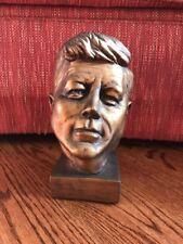 VTG MID CENTURY 1963 UNIVERSAL STATUARY #894 JOHN F KENNEDY GOLD Bronze Signed