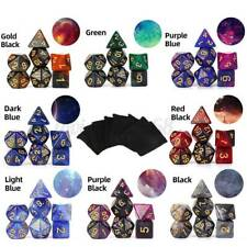 7pcs/Set Multi Sided Galaxy Style Polyhedral Dice for Dungeons & Dragons D4-D20