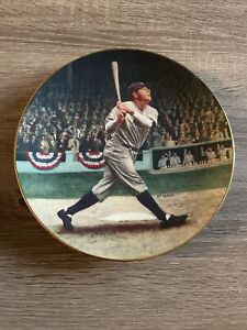 Babe Ruth Shot Plate 1992 Legends Baseball MLB Delphi Bradford Exchange BRADEX