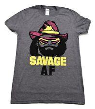 Mens Macho Man Randy Savage Savage AF Wrestling Shirt New S
