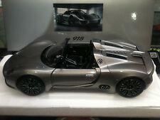 1:18 Minichamps PORSCHE 918 Spyder Prototype Liquidmetal SILVER-spacciatore-versione