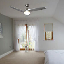 Ceiling Fan w/ Led Panel Light&Remote Control Brushed Nickel Finish Indoor