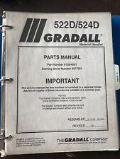 Gradall 522d 524d Telehandler Material Handler Parts Manual Book Guide List Shop