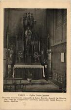 CPA PARIS (10e) Eglise Saint-Laurent. Chapelle (563811)