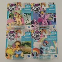 My Little Pony MLP Story Figure Lot x4 Applejack Rainbow FlutterShy Twilight
