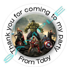 Personalised Avengers inspired Labels ~ Stickers ~ Party sweet cone bags