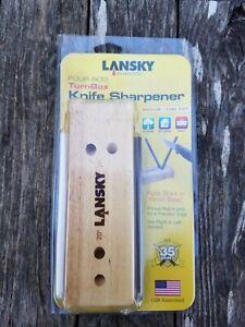 Lansky Deluxe 4 Rod Ceramic Crock Stick Med/Fine Turnbox Knife Sharpener LCD5D