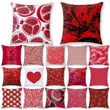 Nordic Geometric Red Cushion Cover Pillows Case Sofa Bed Office Throw Home Decor