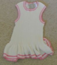 New Next Girls 100% cotton Knitted Top Cream/pink  6 years