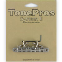 NEW TonePros AVR2-N Tuneomatic Guitar Bridge Locking ABR-1 Upgrade -  NICKEL