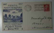 Frankford Arsenal Stamp ClubAnniv US Bonds Philadelphia PA 1957 Phialtelic Cover