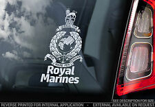 Royal Marines -Car Window Sticker- The British Navy Forces Logo Badge Sign Decal