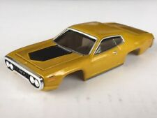 Gold Xtraction 71 Plymouth GTX HO Slot Car Body Fits Old Aurora AFX Mag Traction