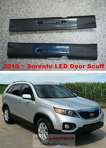 For 2011 2012 2013 KIA SORENTO Front LED Door Sill Step Scuff Plate SET Genuine
