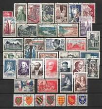 France année complète 1954 Yvert n° 968 à 1007 oblitérés 1er choix
