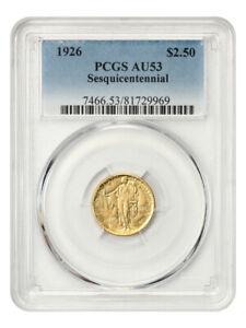1926 Sesquicentennial $2 1/2 PCGS AU53 - Classic Commemorative - Gold Coin