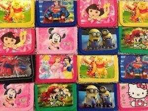 Boys Girls Disney Gift Coin Pocket Money Zip Wallet Birthday Bag Purse Kids