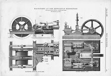 The Engineer 1887 Antique Engineering Print Newcastle Exhibition Machinery