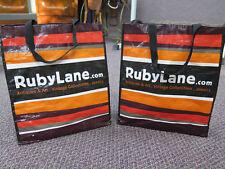 Shopping Bags Reusable x2 Medium Laundry Tote Eco Lot of 2 Travel Bag Ruby Lane