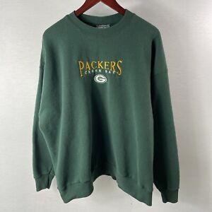 Vintage Green Bay Packers Sweatshirt NFL NFC Adult 2X LARGE Green Aaron Rodgers