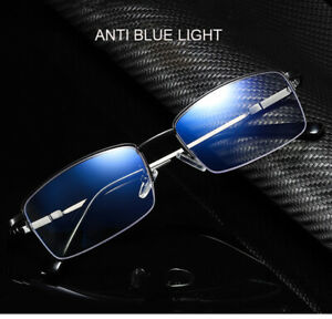 Memory Titanium Anti blue ray Progressive Multifocal Reading Distance Glasses