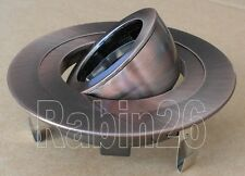 "4"" INCH CAN 12V MR16 RECESSED LIGHT ADJUSTABLE RING GIMBAL TRIM COPPER"