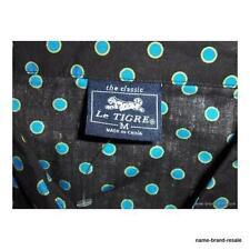 LE TIGRE NEW Juniors M MEDIUM Black Blue Dot WAITRESS Mini Dress Punk Emo