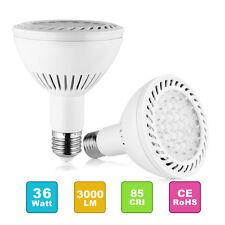 2x 36W 3200 lumen LED PAR30 Flood Light Bulb E27/E26 Medium Base 3000K WarmWhite