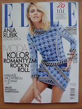 ELLE Poland, April 2014, ANJA RUBIK on front cover in. Charlotte Gainsbourg