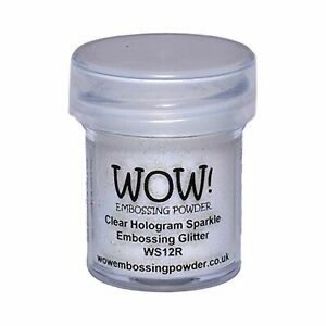 Wow Embossing Powder 15ml, Clear Hologram Sparkle