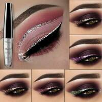 16 Colors Waterproof Metallic Shiny Smoky Eyeshadow Glitter Liquid Eyeliner Pen